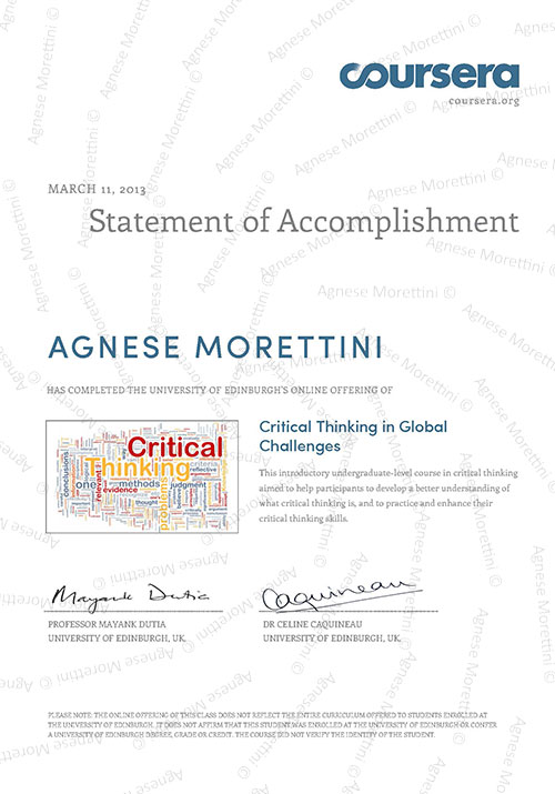 critical thinking in global challenges at the university of edinburgh University of edinburgh is the sixth oldest university in the english-speaking  world the university is  2013-2013, critical thinking in global challenges  critical.